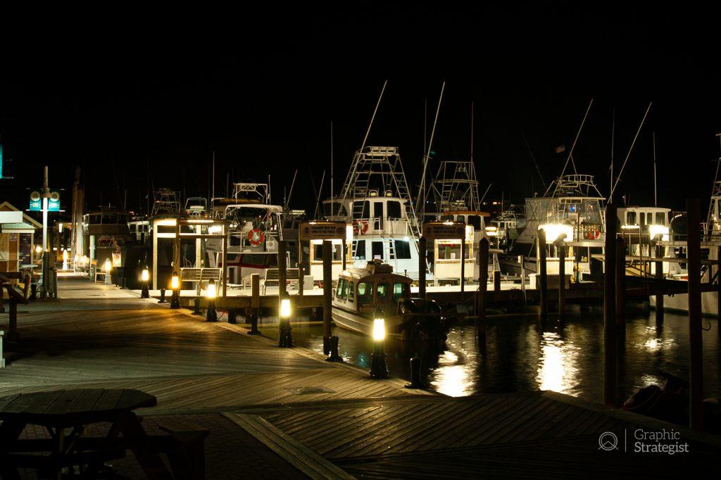 The Destin Harbor boardwalk