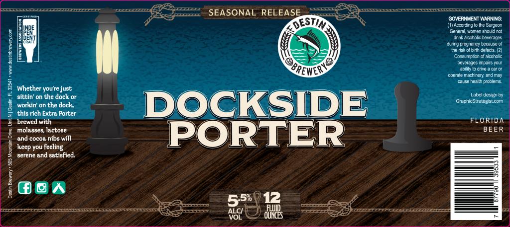 Dockside Porter Beer Label